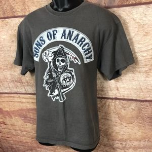 Other - Sons Of Anarchy T Shirt L Large Gray Short Sleeve